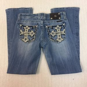 MISS ME distressed boot cut jeans JP5452B